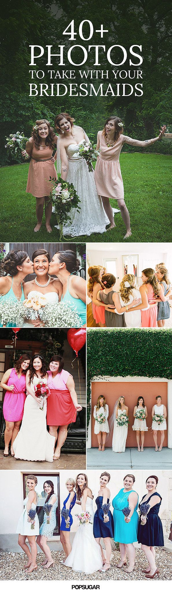 100+ Adorable Photos You Need to Take With Your Bridesmaids is part of Wedding - Since your bridesmaids are the closest women in your life, it would be strange to take nothing but stiff, posed photos with them on your wedding day  Instead