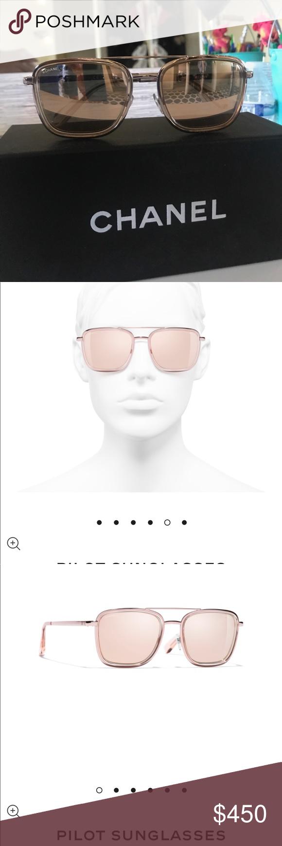 ecf6b0cf7 Chanel sunglasses 18 karat rose gold mirrored authentic Chanel sunglasses.  CH4241 $585 regular prices.