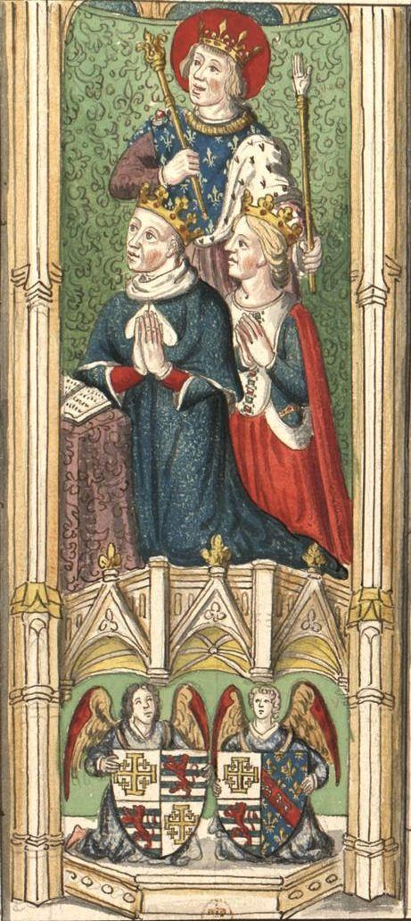 Jean, roi de Chypre x Charlotte de Bourbon (Gaignières 554