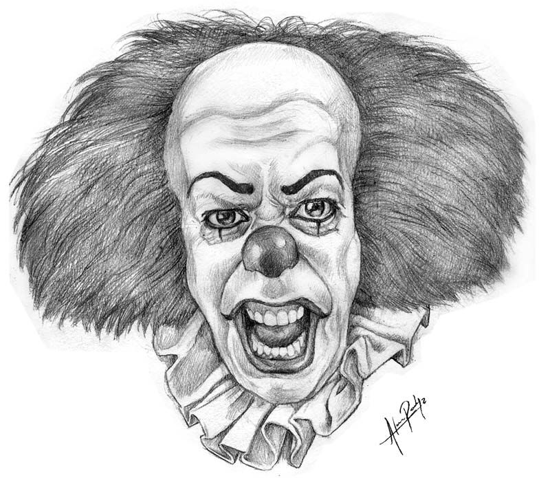 Clown From It Bing Images Payaso Diabolico Payasos Dibujos