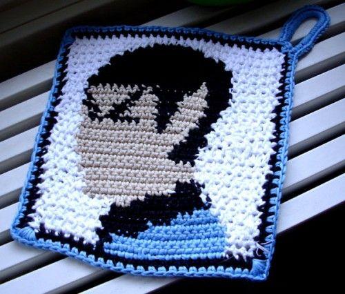 crochet_spock_potholder #naturadmc