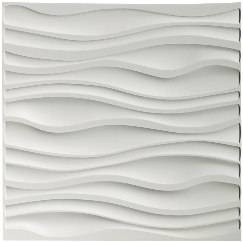 Art3d 19 7 In X 19 7 In Decorative Pvc 3d Wall Panels Wavy Wall Design 12 Pack A10037 The Home Depot 3d Wall Panels Decorative Wall Panels Wall Design