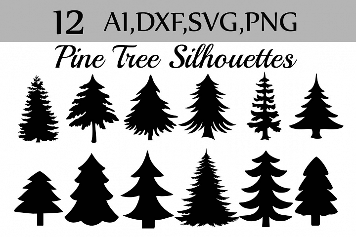 Svg Pine Tree Clipart 38311 Illustrations Design Bundles Pine Tree Silhouette Christmas Tree Silhouette Pine Tree Drawing