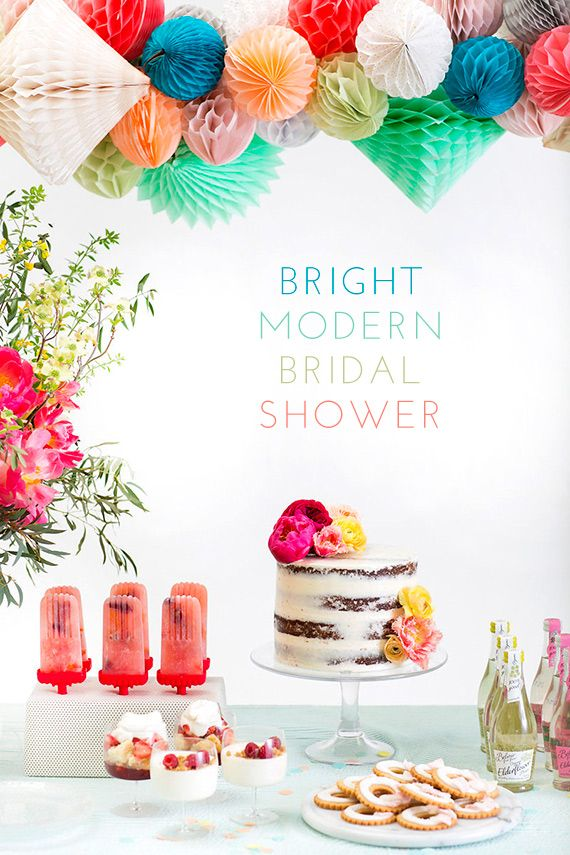 bright modern bridal shower inspiration with crate and barrel