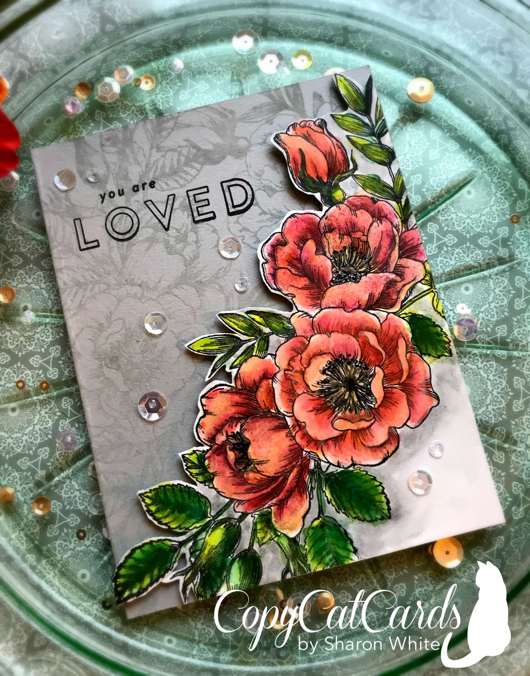 simon says stamp beautiful flowers  copycatcards  flower