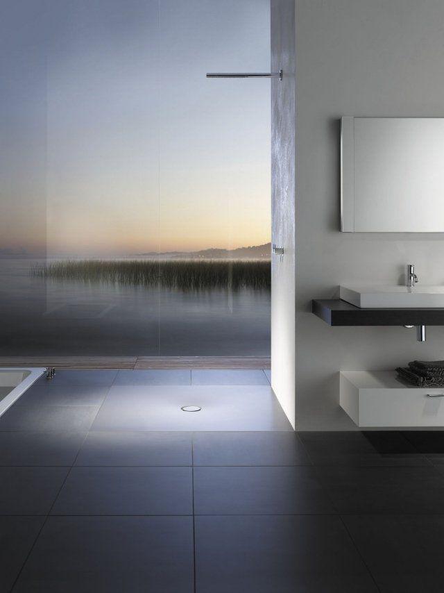 Receveur de douche extra plat pour la salle de bain moderne - antiderapant salle de bain