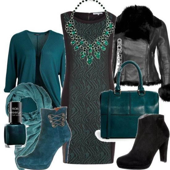 #xmas #gifts #ugg great style with emerald green - Winter Outfit