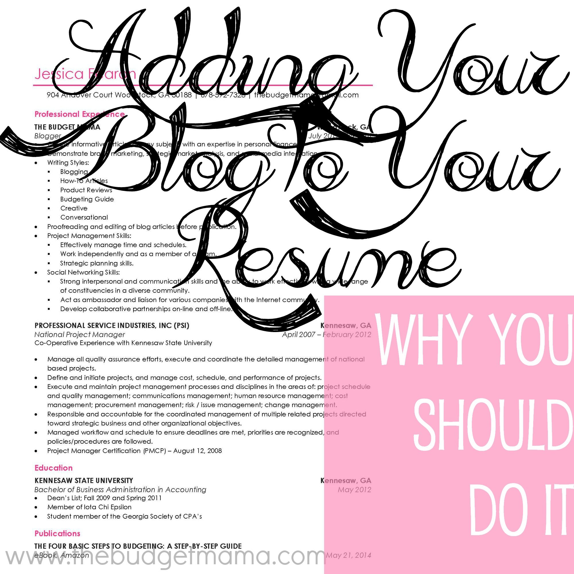 What to Include on Your Blogging Resume | Blogging