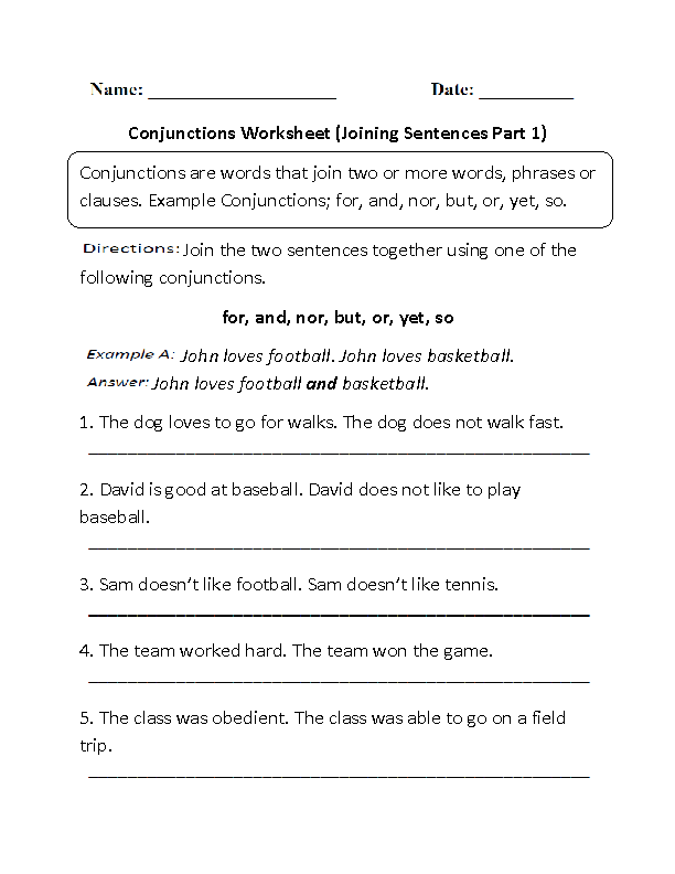 conjunctions worksheet joining sentences part 1 writing comparative superlative adverbs. Black Bedroom Furniture Sets. Home Design Ideas