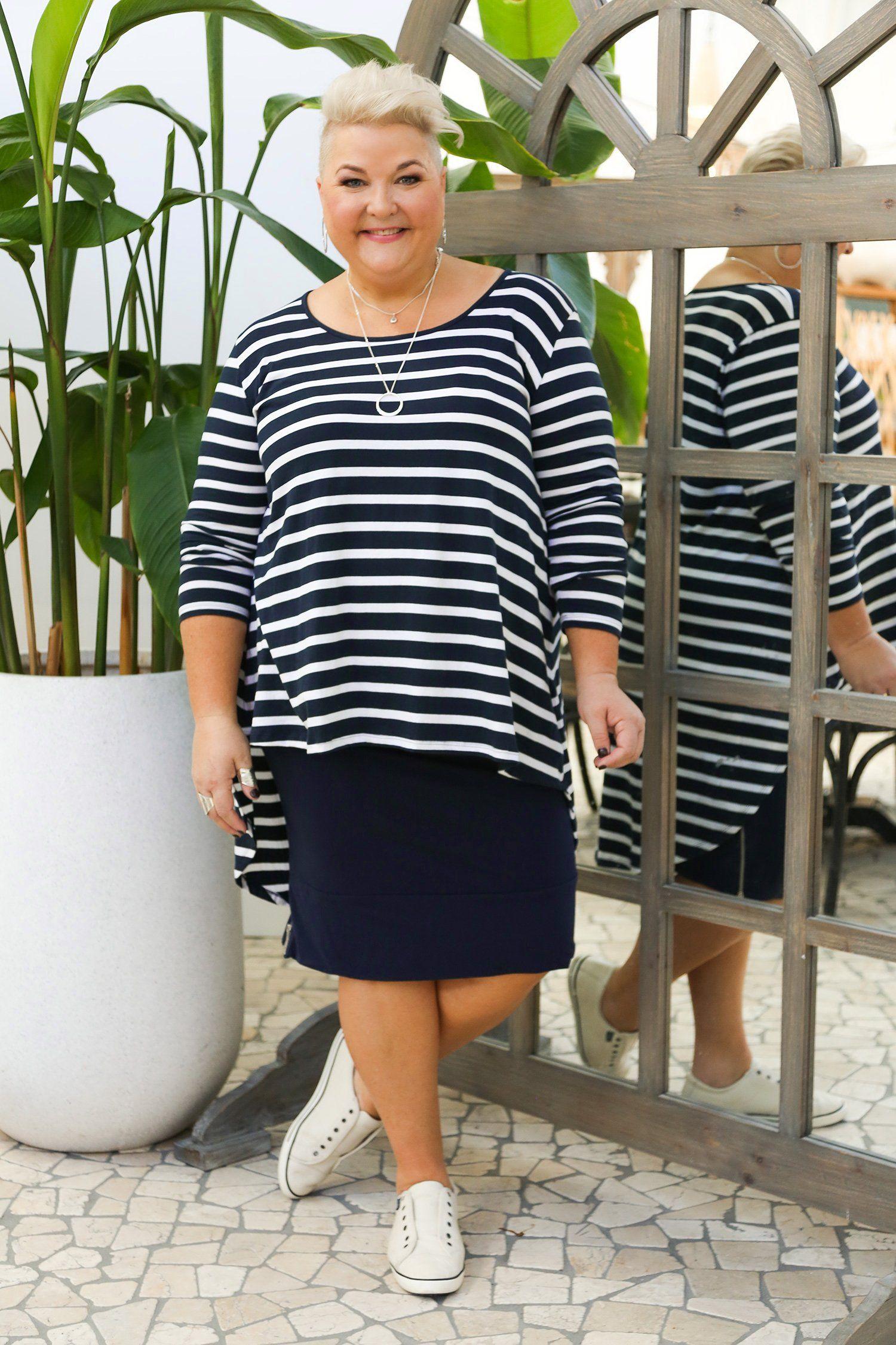 dc58d8d7097 Adrift Women s Plus Size Mila Skirt in Navy - 100% Cotton