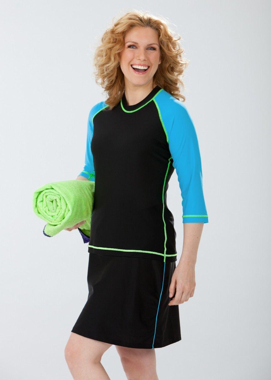 519885744f long sleeve swim shirt  bathingsuit with sleeves