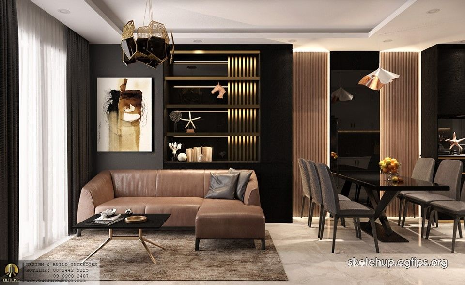 2460 Interior Apartment Scene Sketchup Model By Tantuong Free