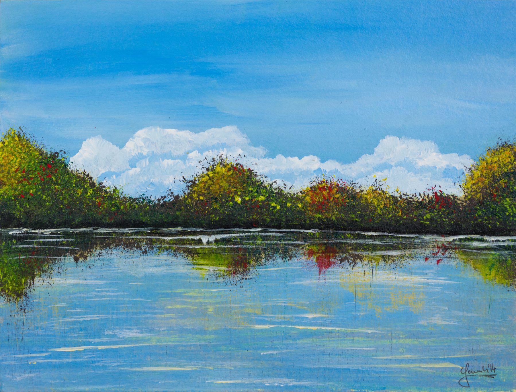 Shoreland, 32 x 24 cm, Acryl & Öl, 2014