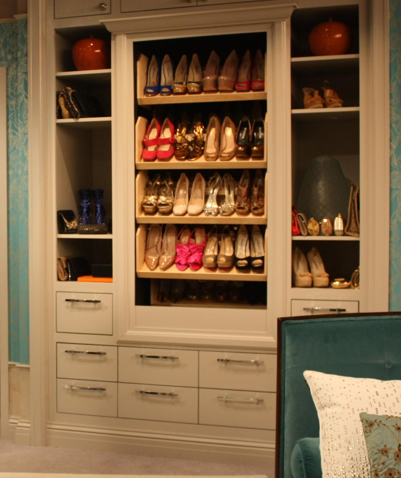 Electric Shoe Carousel Must Have 3 Home Storage Solutions Shoe Storage Shoe Storage Cabinet