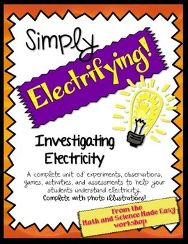 Let The Sparks Fly Spark Your Students Interest In Electricity With This Unit Which Includes 50 Pages Of Experiments Investigations Activities