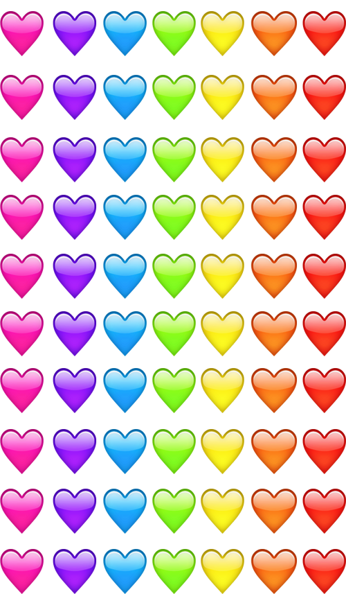 Emoji Hearts Pink Violet Blue Green Yellow Orange Red We Heart Emoji Wallpaper Emoji Backgrounds Emoji Wallpaper Iphone