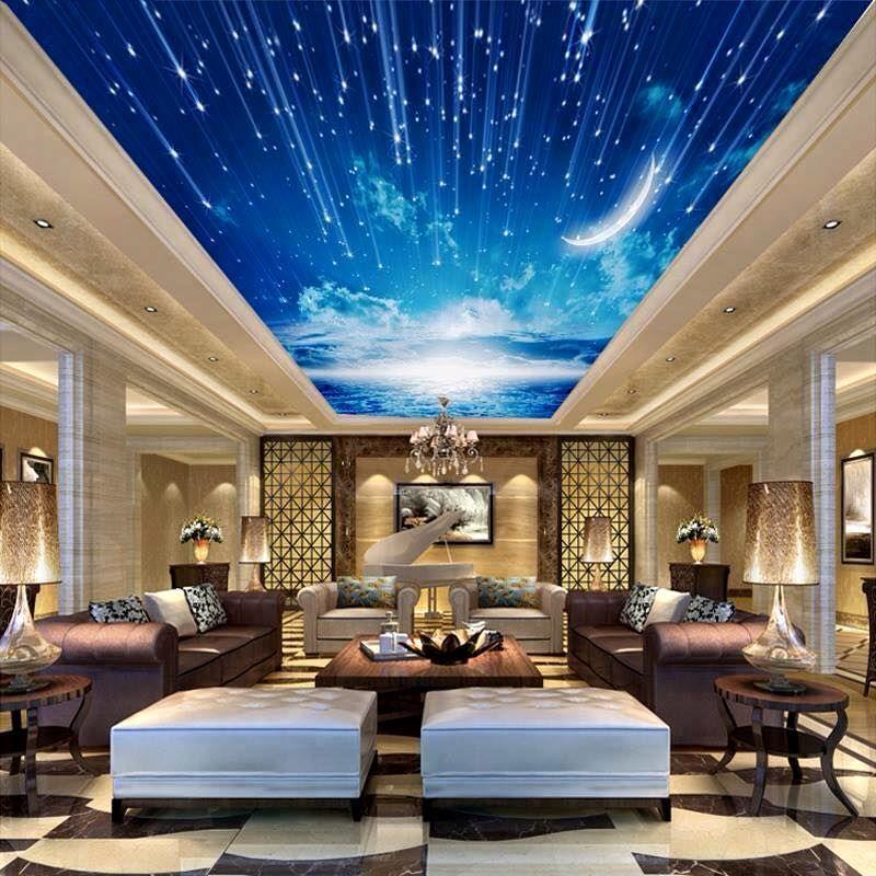 3d-gökyüzü-gergi-tavan   ♔ Prayer Room - Meditation Room ...