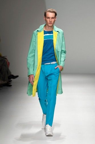 Ferragamo gives guys their own version of all-over colorblocking, plus more menswear trends we're obsessing