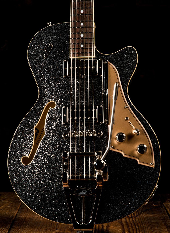 Duesenberg Starplayer Tv Black Sparkle Electric Guitar Black