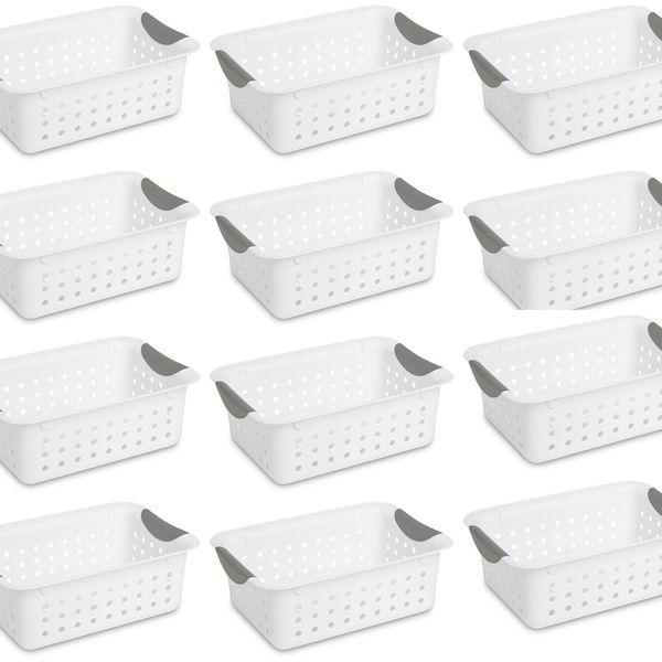 12 Sterilite 16228012 Small Ultra Plastic Storage Bin