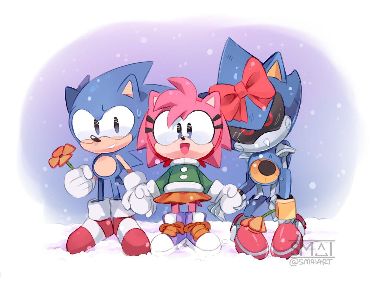 Happy Holidays Sonic The Hedgehog Classic Sonic Sonic Art