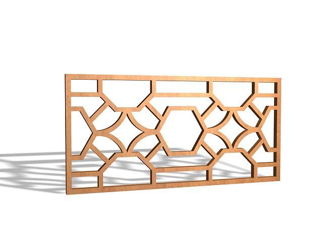 Decorative Wood Lattice Panels 3d Model Wood Decor Lattice