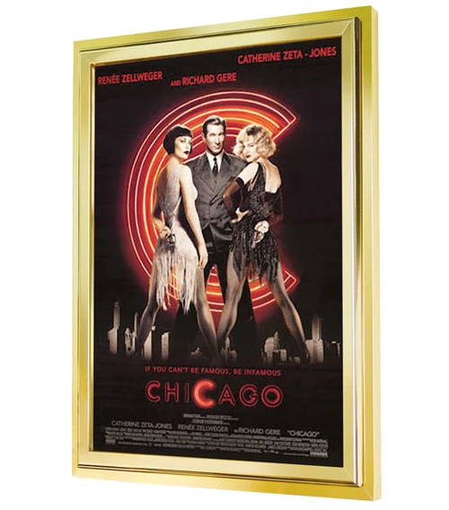deco movie poster frame backlit