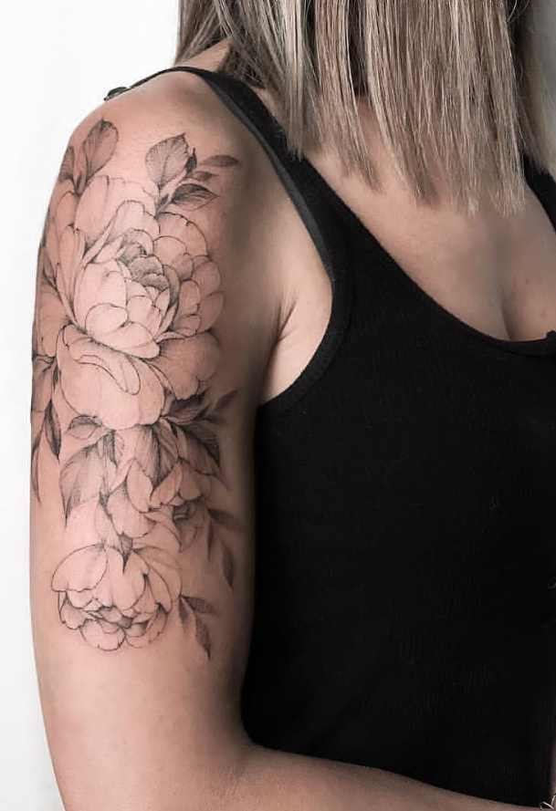 20 Unique Flower Sleeve Tattoo Design Ideas For Woman To Look Great Tattoo Sleeve Designs Tattoos For Women Half Sleeve Shoulder Tattoos For Women