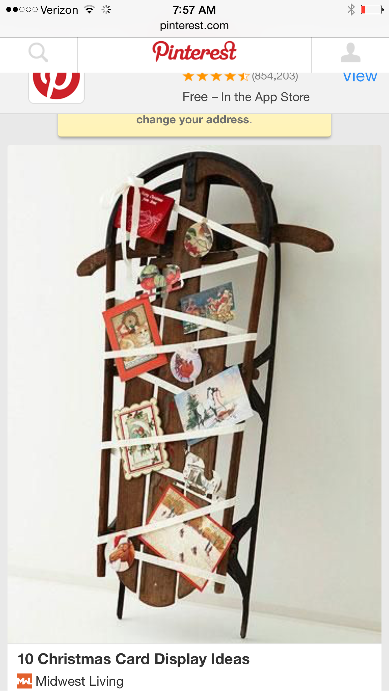 10 Christmas Card Display Ideas Turn Christmas Cards Into Merry Displays  Using These Clever Ideas.