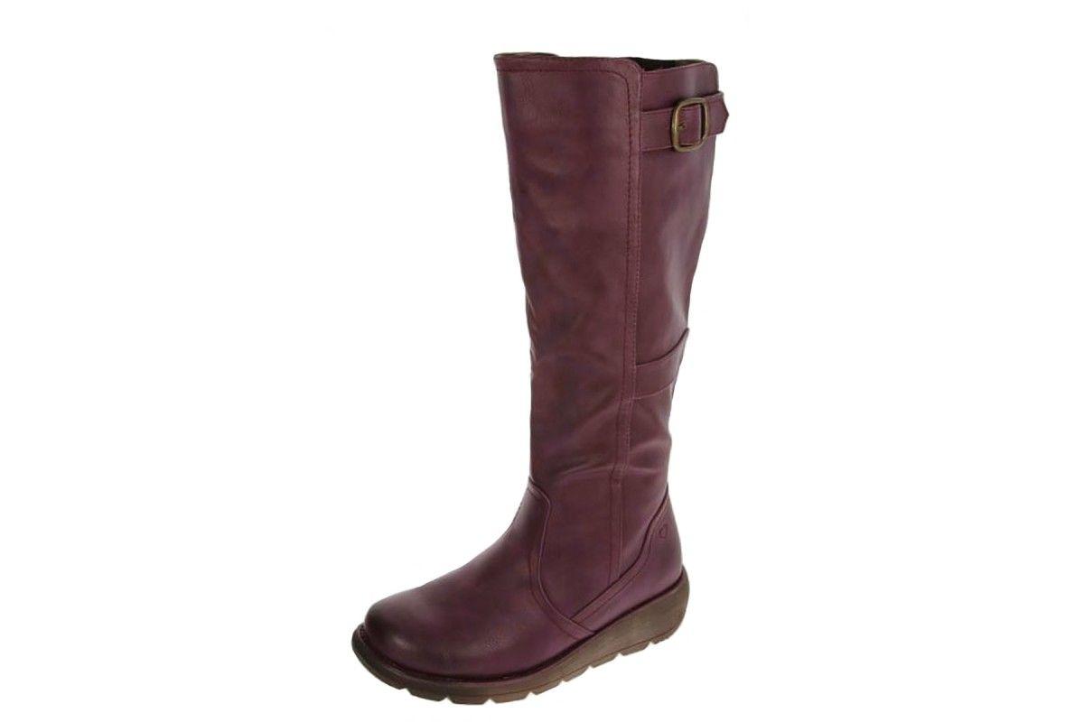 Heavenly Feet Arabella Wine Rose Mid Calf Boots Women/'s