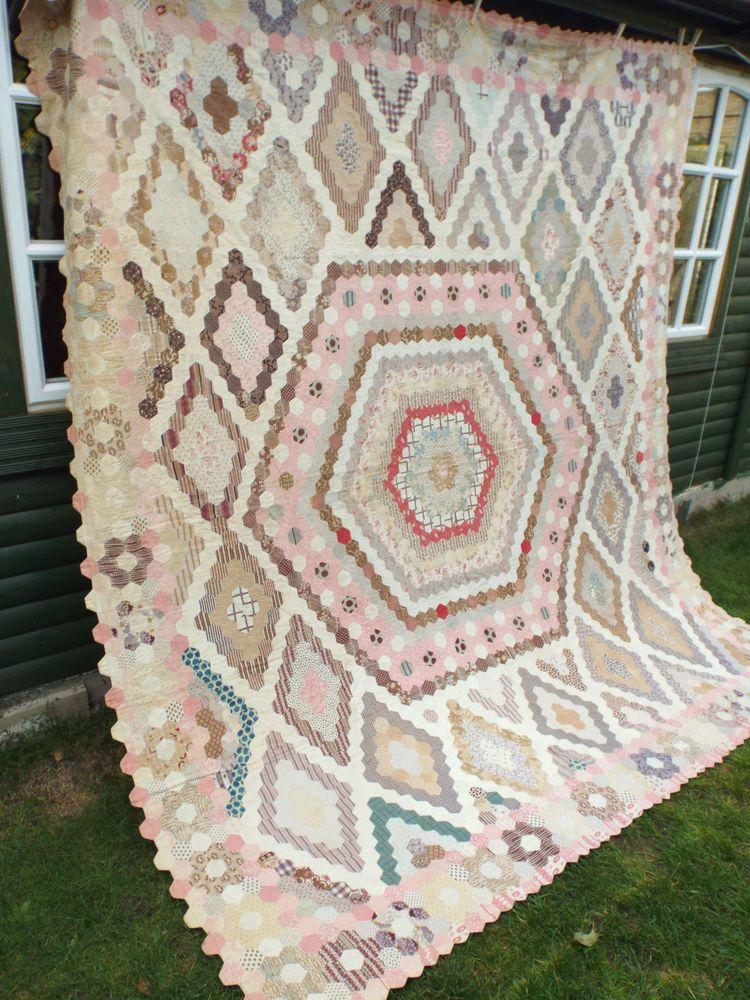 Rare Antique Quilt Dated 1860 Vintage Patchwork 3 500 Tiny