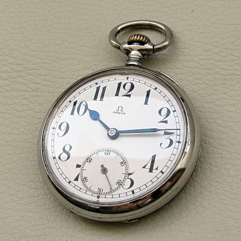 Antique OMEGA Railroad Swiss Pocket Watch