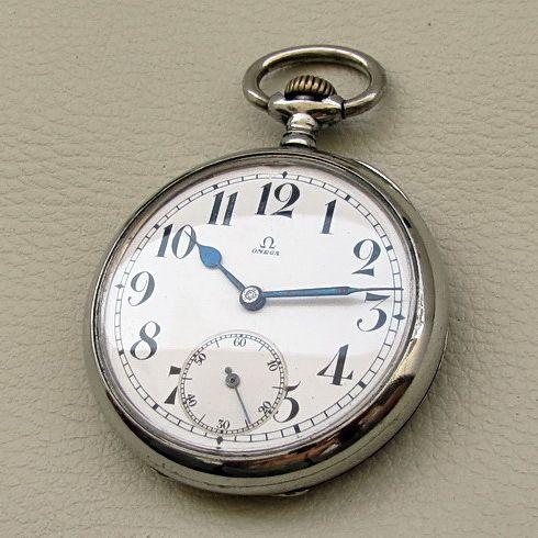 Antique OMEGA Railroad Swiss Pocket Watch