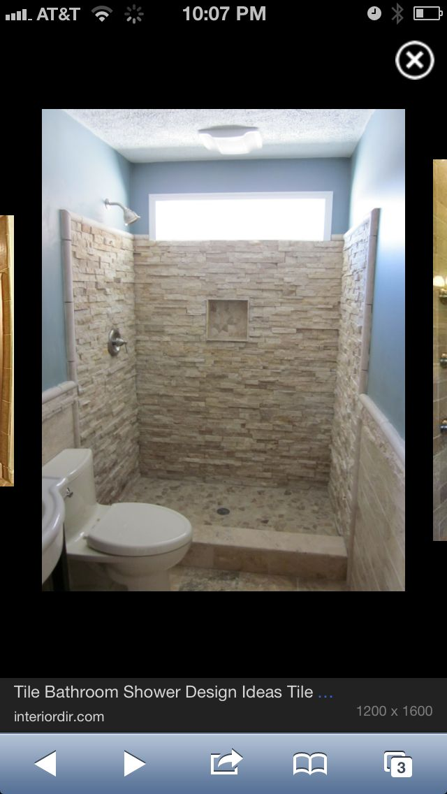 This Bathroom Configuration Looks Exactly Like Clays Love The Rock Looking Tile