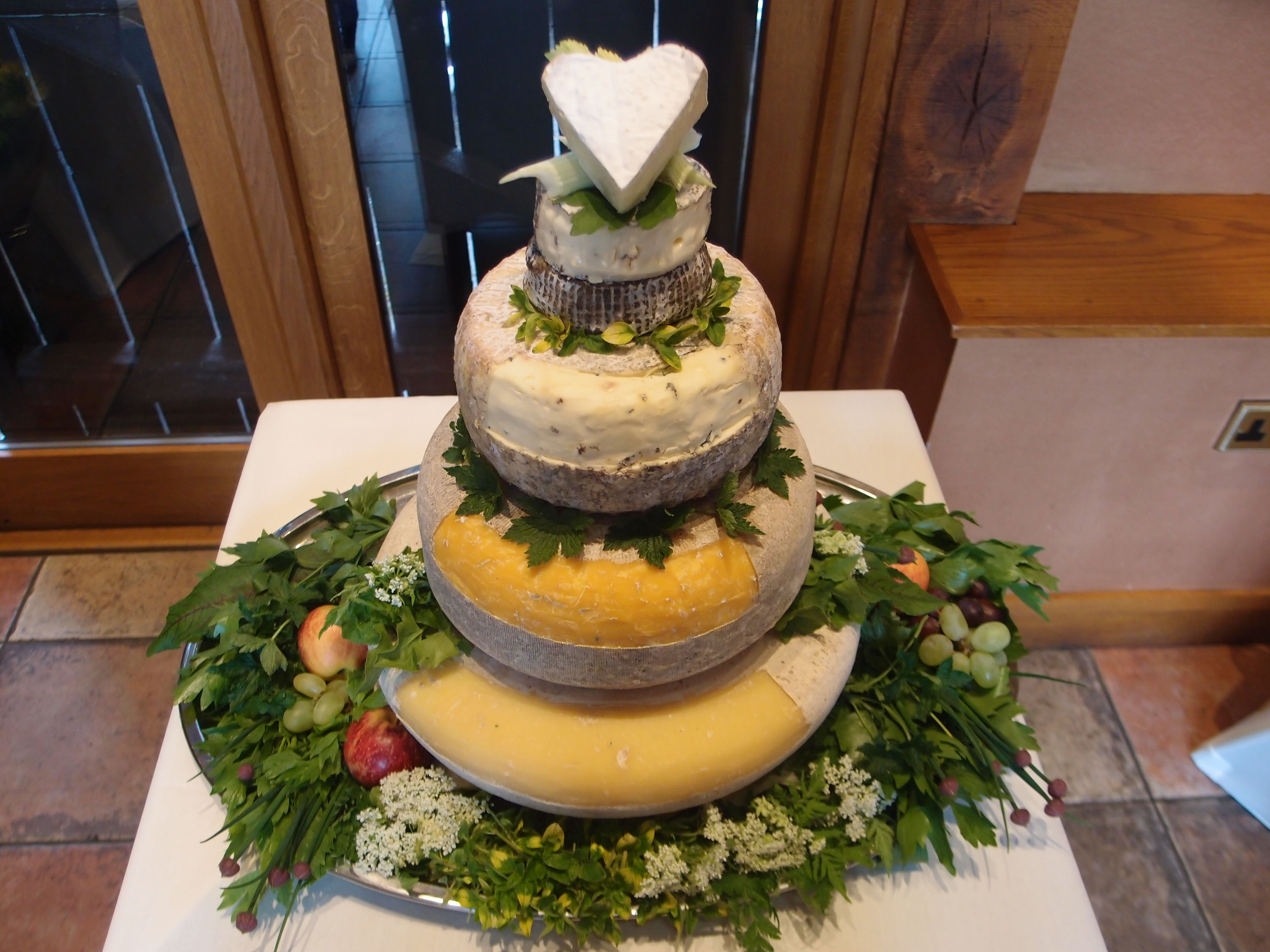 Cheese Wedding Cake Shropshire The Hundred House Barn Food