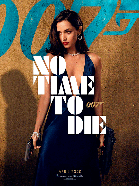 "ANA DE ARMAS as ""Paloma"" in first No Time to Die (2020) poster. in 2020 