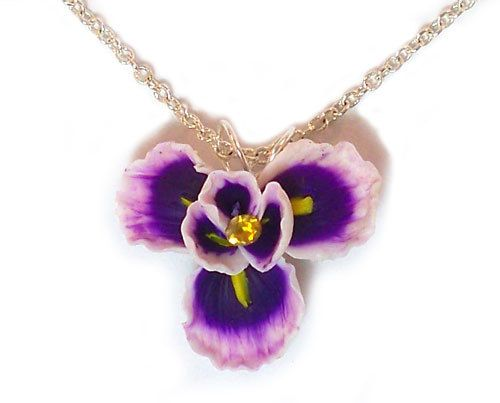 Purple Iris Necklace Purple Iris Jewelry Iris Pendant Etsy Iris Jewelry Flower Pendant Necklace Purple Iris