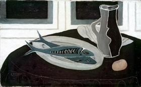 Bottle and Fish - Georges Braque