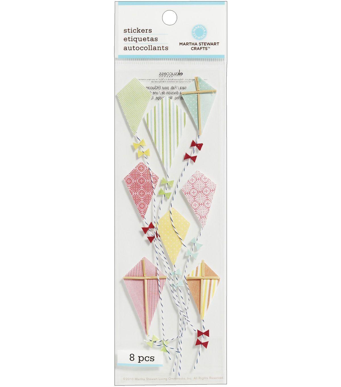 Martha Stewart Crafts Dimensional Stickers-Kite