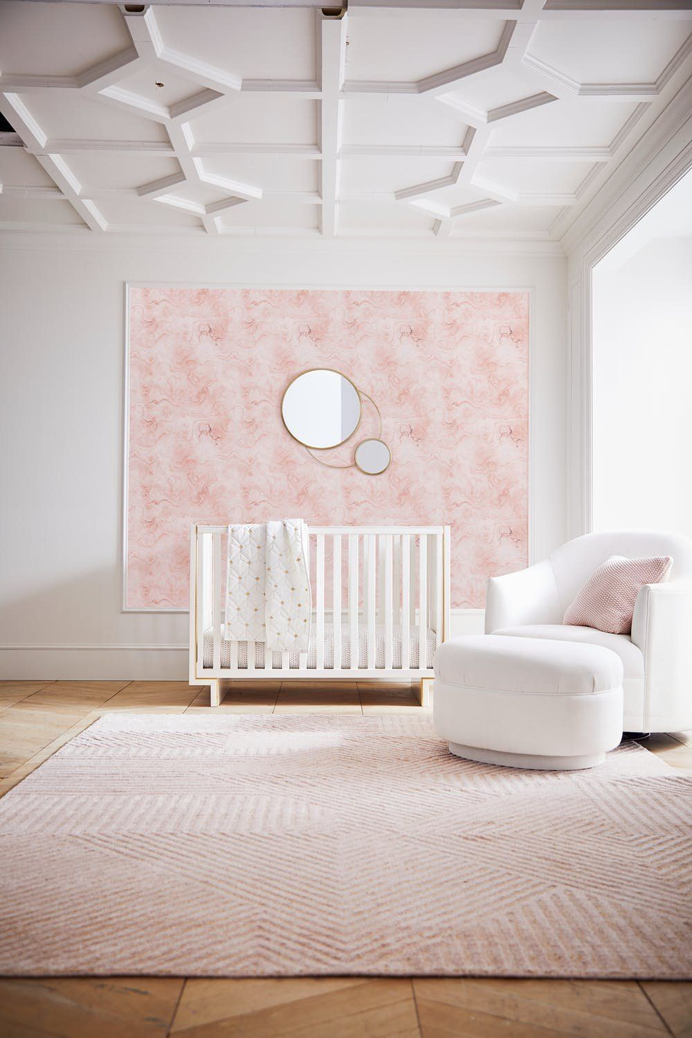 This Nursery Wallpaper Collab Is So Stylish We Want It In Our Room Pottery Barn Baby Kids Room Wallpaper Pottery Barn Kids Rooms