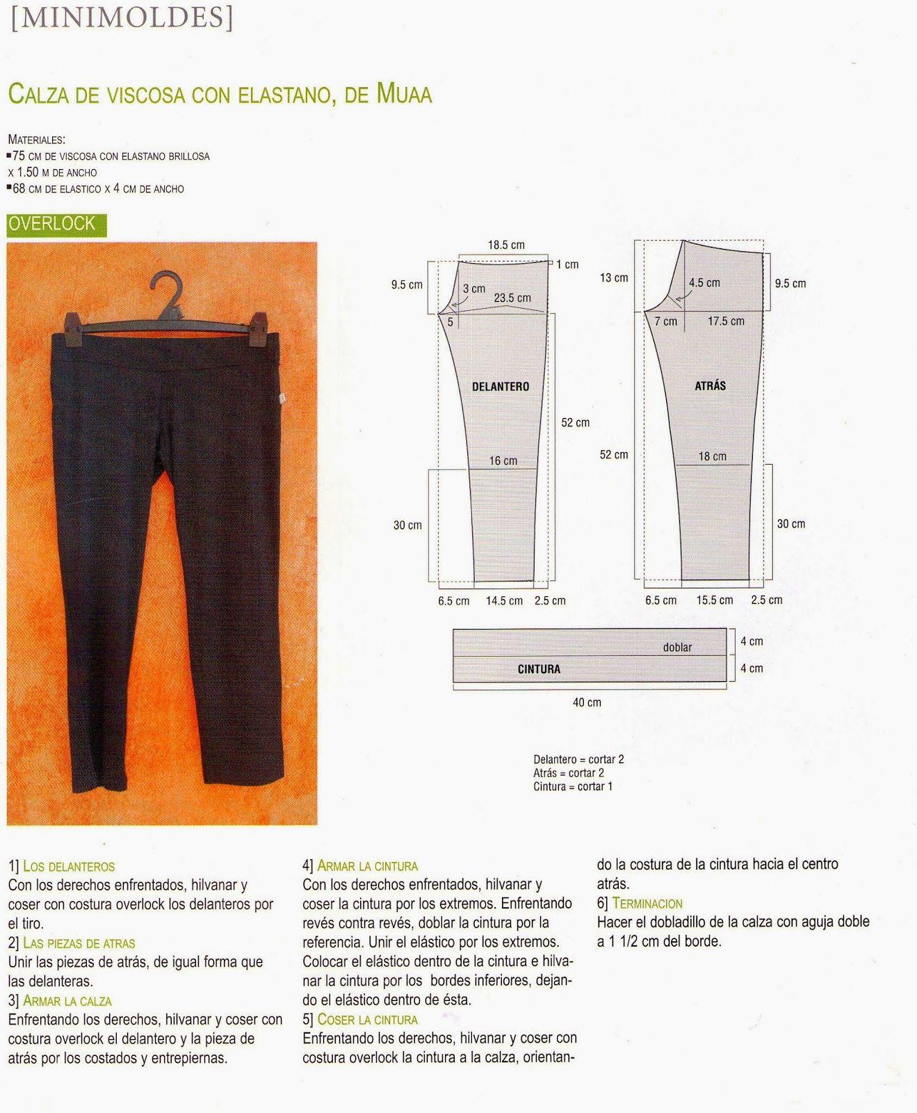 mi blog d costura: como hacer una calza … | Pantalones cortos | Pinte…