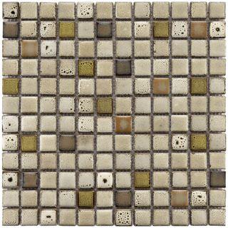 Somertile Tuscan Square Inch Sierra Ceramic Mosaic Tiles Pack Of - 1 inch square ceramic tiles
