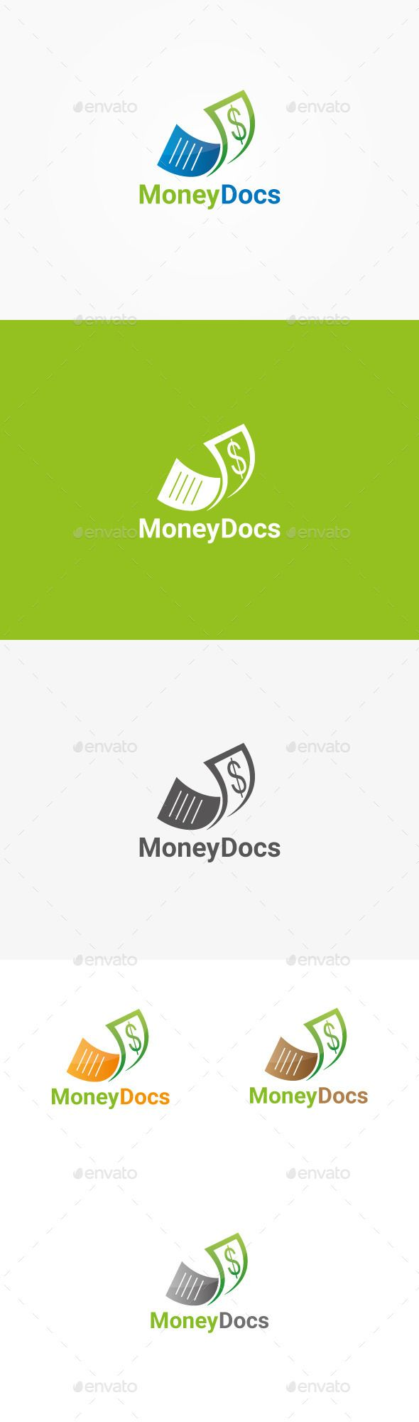 money docs logo design template vector logotype download it here