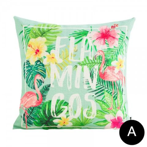 Flamingo Tropical Throw Pillows For Couch Pink And Green Decorative Fascinating Pink And Green Decorative Pillows