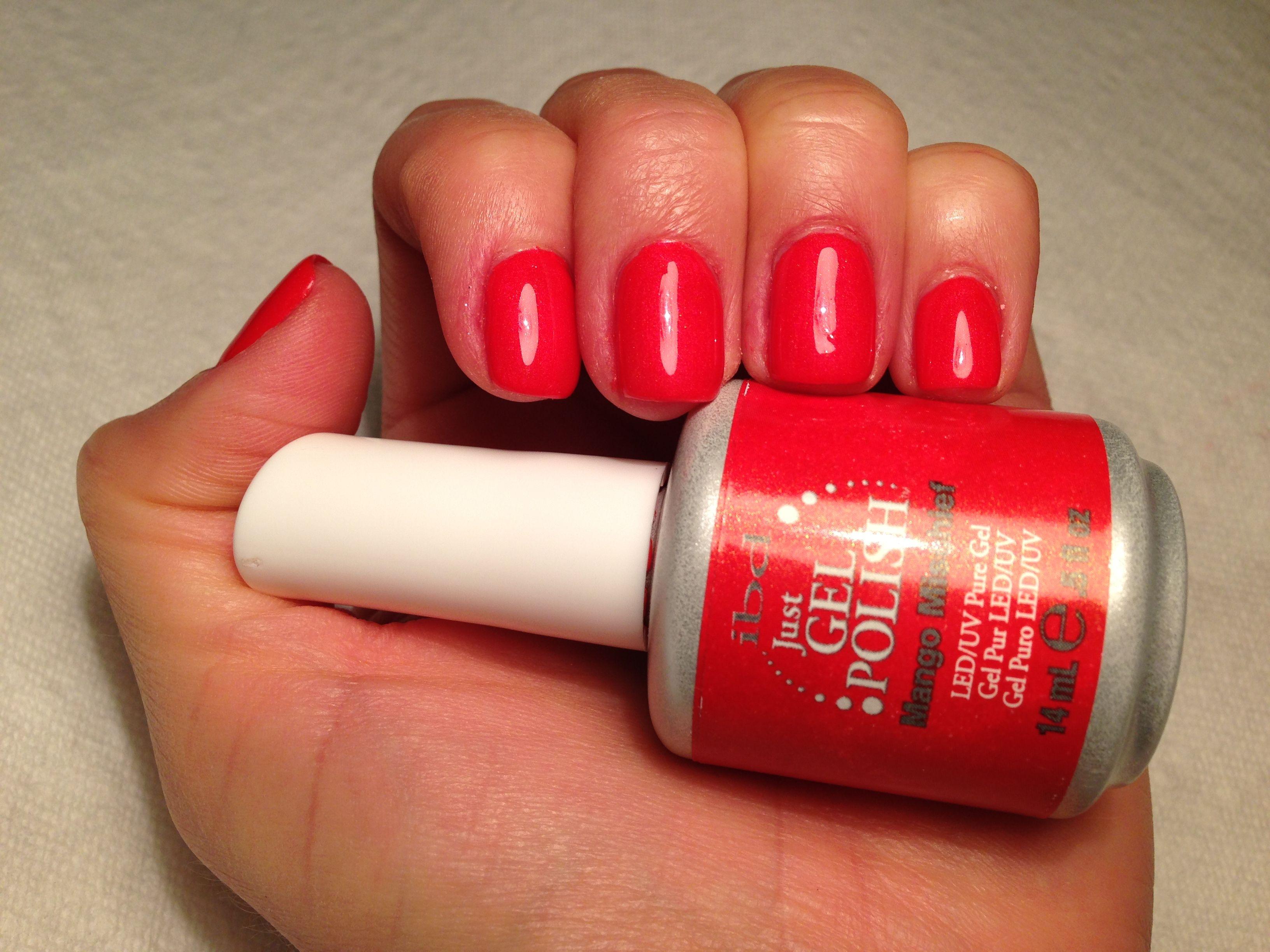 IBD Mango Mischief; very nice orange-coral-y color | gel nail polish ...