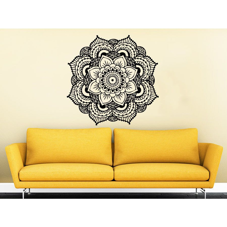 Mandala Yoga Studio Wall Art Sticker Decal | Home decor ...
