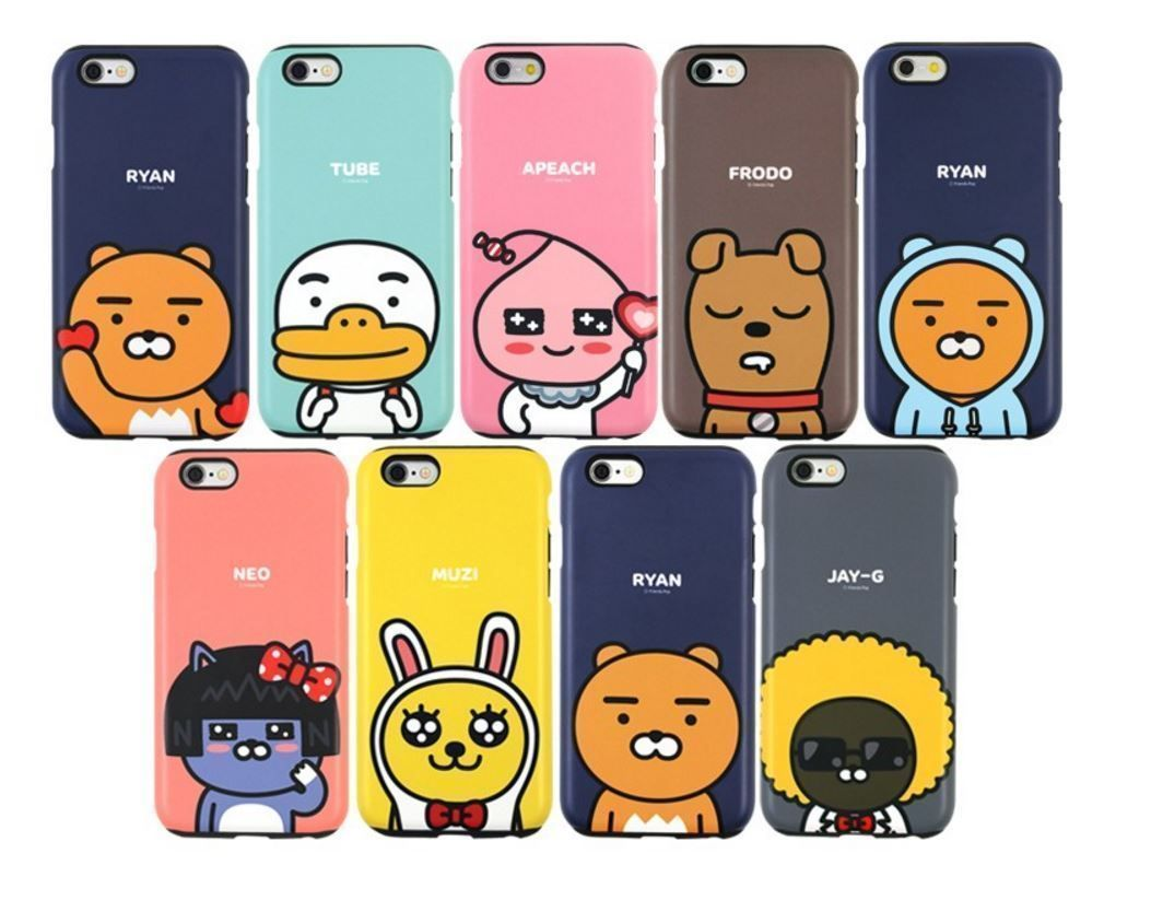 3f9300374 Kakao Friends Cutie Double Bumper Phone Case Cover For Galaxy S6-S7Edge/Note  4-5