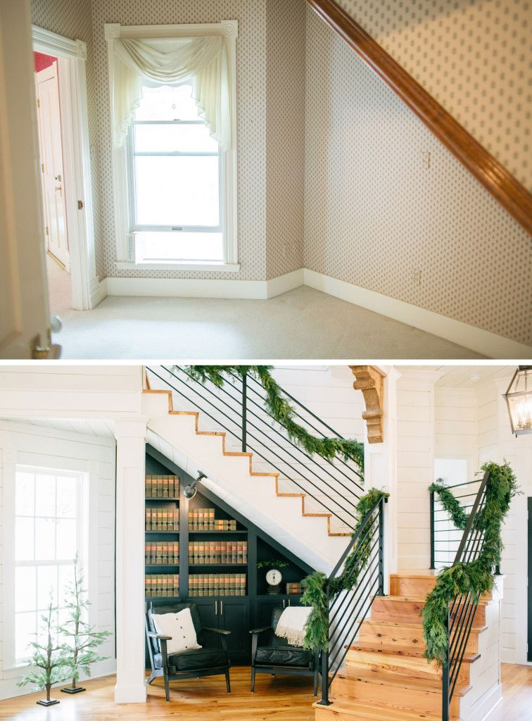 Magnolia House Staircase Before After Fixer Upper Hgtv Beds