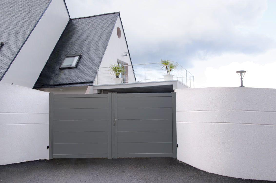 hezo portail battant en aluminium contemporain klosea portail doors pinterest portail. Black Bedroom Furniture Sets. Home Design Ideas