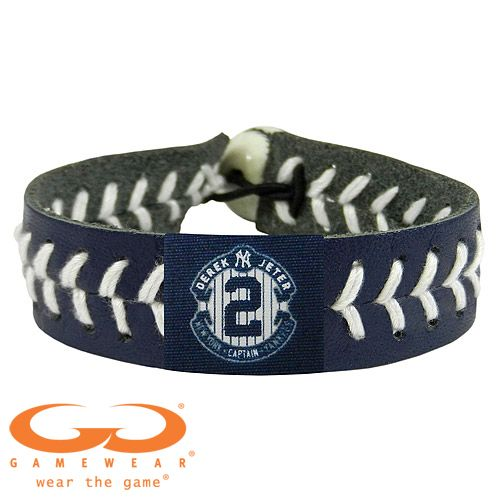 New York Yankees Derek Jeter Retirement Commemorative Logo Team Color Seam Bracelet Derek Jeter Major League Baseball Mlb Baseball